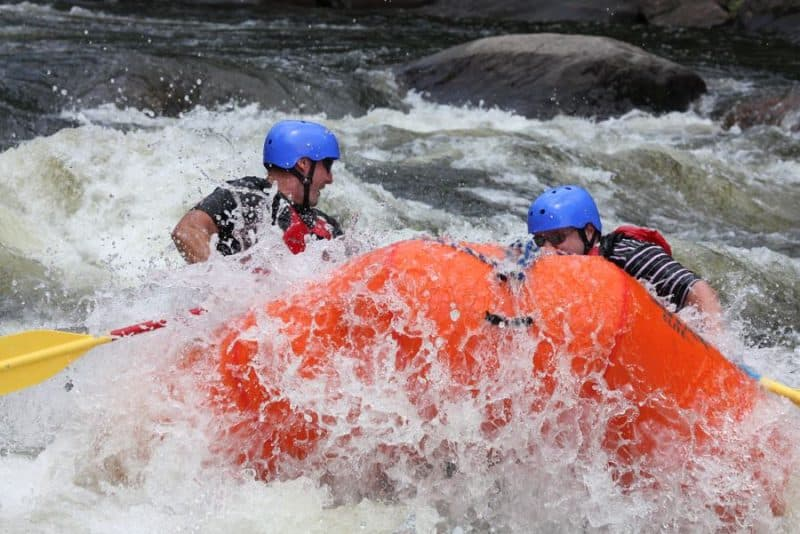Rafting in the Hudson River in New York State's Adirondack Park.