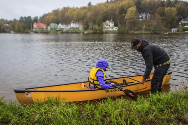 Kayaking at the Saranac Lake, Adirondacks
