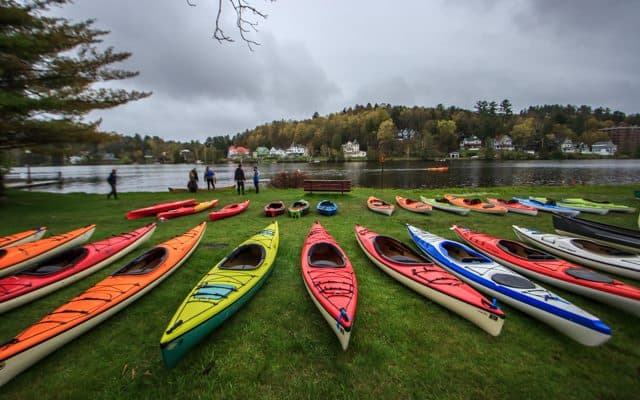 Kayaks at the Saranac Lake