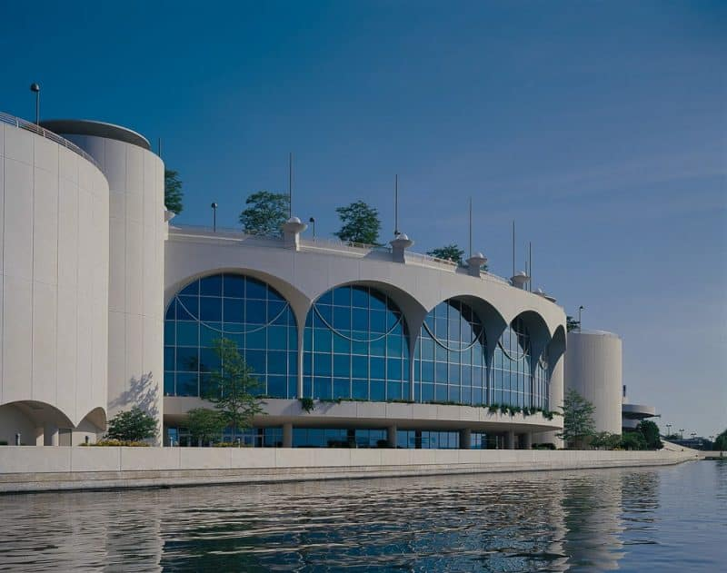 The spacious Monona Terrace in Madison serves as a conference /civic center for the Capitol of Wisconsin. (photo courtesy Monona Terrace)