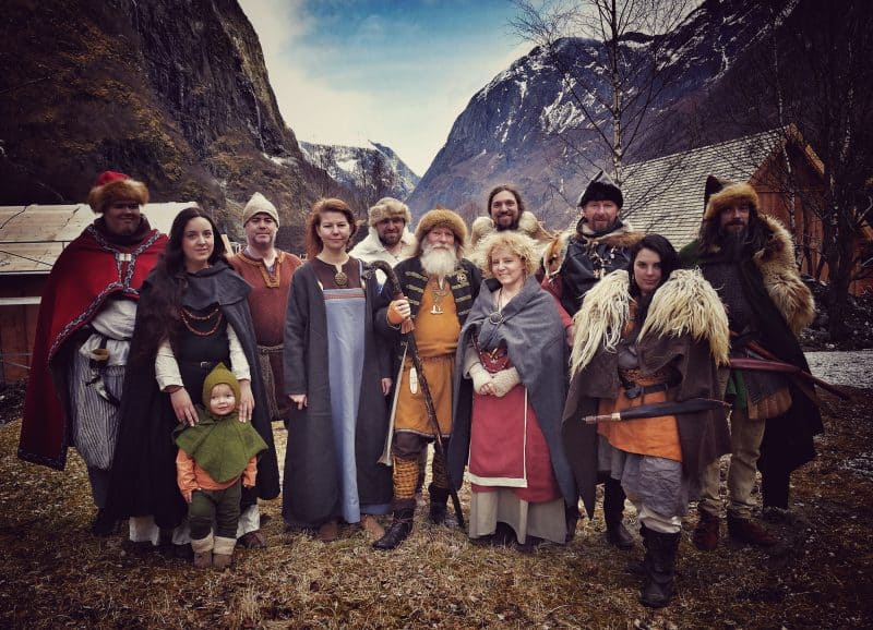 Vikings in their traditional dress, very authentic.