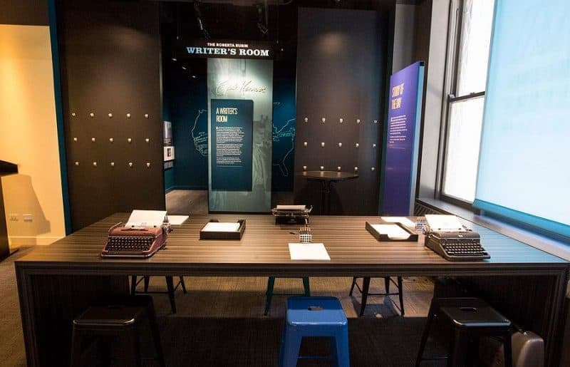"""The """"Mind of a Writer"""" Gallery allows visitors to get in on the writing and creativity for themselves. Photo courtesy of Barry Brecheisen"""