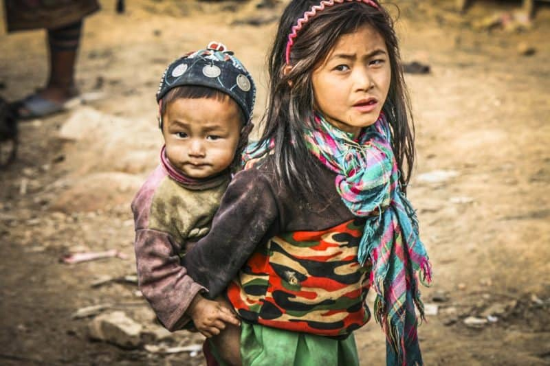 Akha kids in northern Laos.