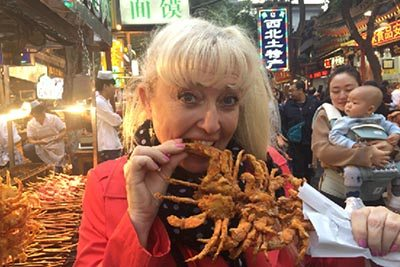 16 Delicious deep fried crabs at North Gate Night Market, Xi'an.