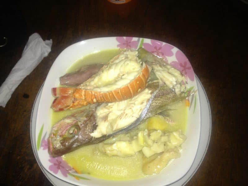 Rundown is a popular seafood dish made on Little Corn Island.