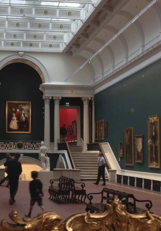 Inside the National Gallery in Dublin.