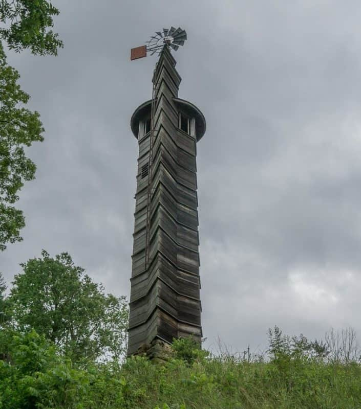 "Wright named his eye-catching watertower located on his Taliesin estate ""Romeo and Juliet""."