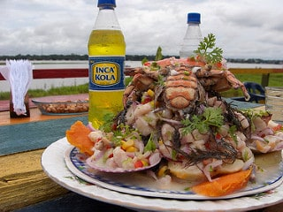 Breakfast in Peru, similar to lunch, ceviche. Adrimcm photo.