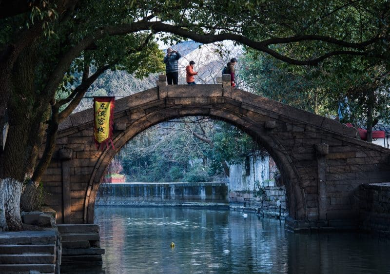 Beautiful bridges are all over Suzhou.