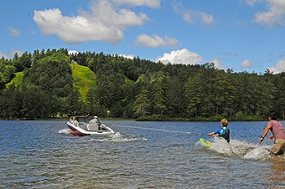 Give water skiing a try at Purity Spring Resort! Photo courtesy of Purity Spring Resort