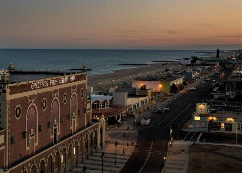 Greetings from asbury park new jersey gonomad travel an homage to springsteens debut album greetings from asbury park lights up the citys m4hsunfo