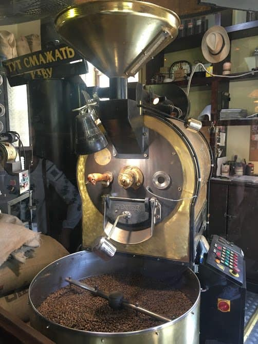 Get a world-class cup o' joe at Lviv's Coffee Mine. Photo by Sarah Hartshorne