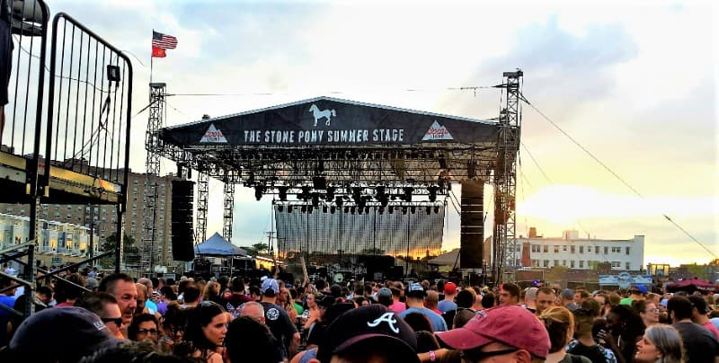 Crowds gather for an anticipated concert at iconic Stone Pony's Summer Stage. Photo: Steve LaCroix