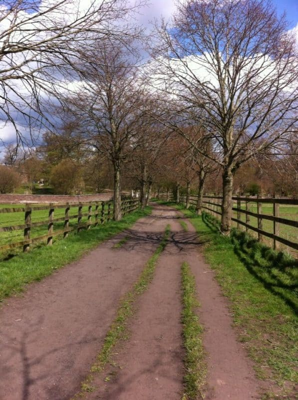 The Dunham Massey back path entrance.