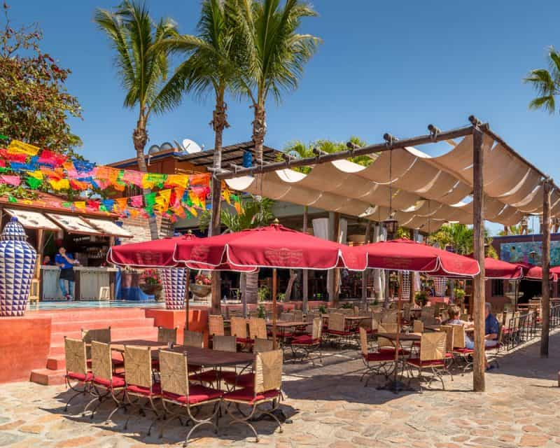 Fiesta patio of Hotel California located in Todos Santos, Mexico.