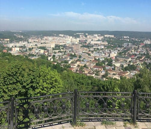 The incredible view from the High Castle in Lviv. Photo by Sarah Hartshorne