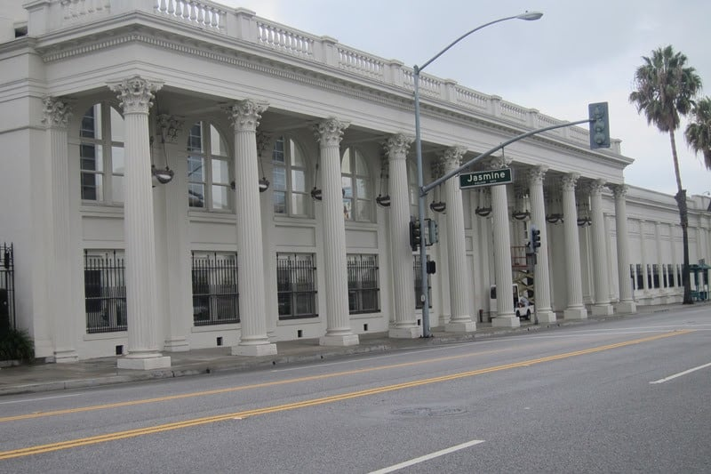 The historic Ince studio colonnade.