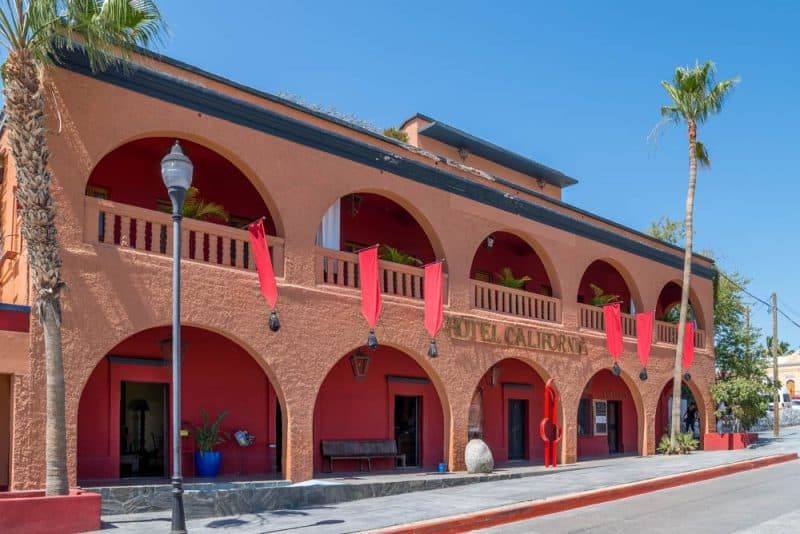 Hotel California is located in Todos Santos, Mexico an easy drive north of Cabo San Lucas.