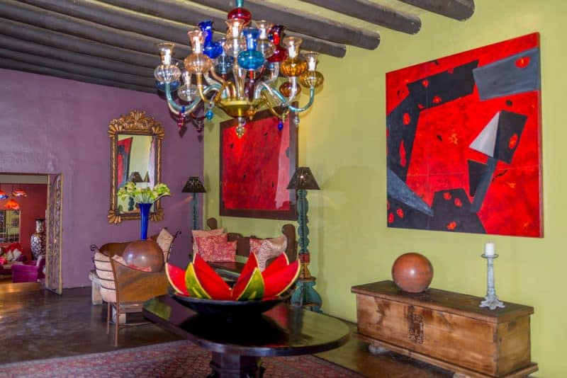 Lobby of Hotel California located in Todos Santos, Mexico.