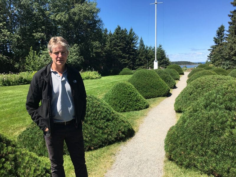 Alexander Reford, the great-grandson of Elsie Reford, who created Reford Gardens in Rimouski, near Gaspesie.