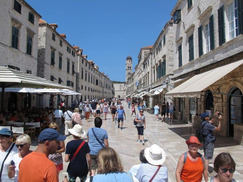 On the Stradun, old town Dubrovnik's main street