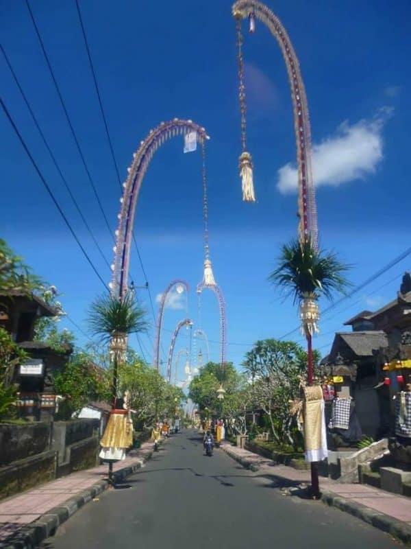 Penjors at Galungan, Jl Sri Wedari, Ubud, Bali.