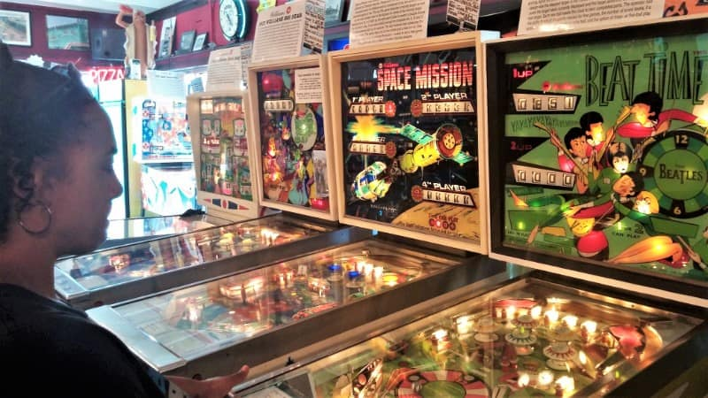 Pinball wizard. Pascale Laforest, beats the heat in Silverball Museum on the boardwalk.