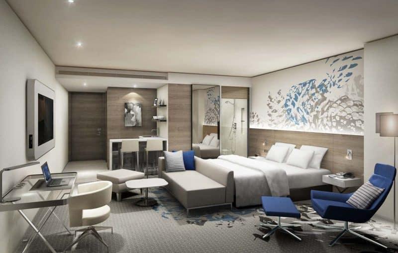 A room in Seoul Dragon City's Novotel Suites Ambassador Seoul Yongsan.