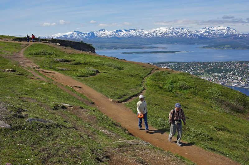 Trail to Summit of Fjellheisen.