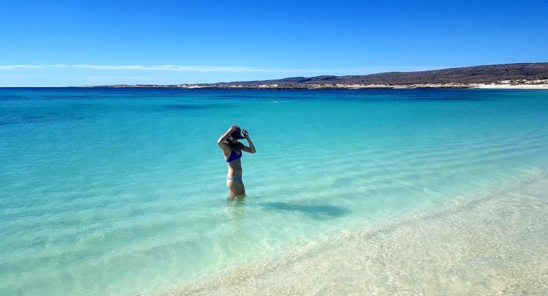 Turquoise Bay is beach perfection, with white sand, crystalline water, and the snorkeling to match, in Australia's Cape Range National Park. Kane Henderson photos.