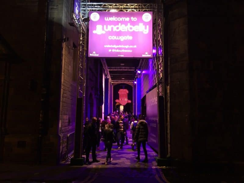 Underbelly venue in Cowgate