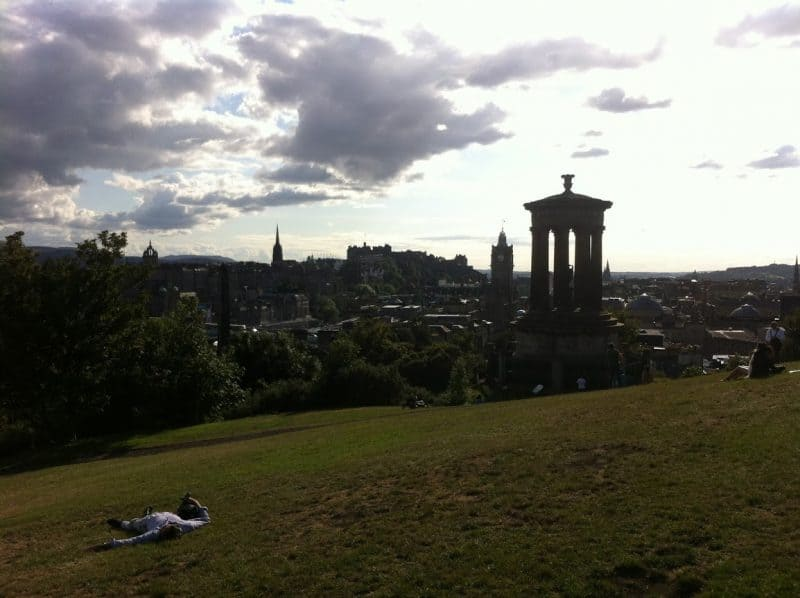 View from the Dugald Stewart Monument.