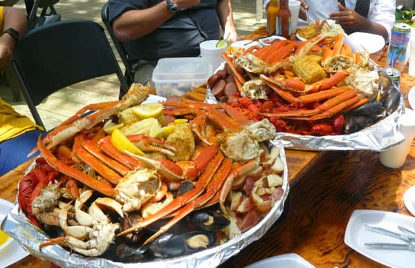 Platters at The Crab Shack on Tybee Island