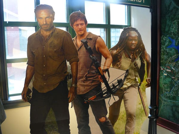 "Cutouts of actors from ""The Walking Dead'"