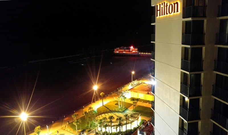 Busy beach nightlife, Hilton Daytona Beach, Daytona Beach, FL.