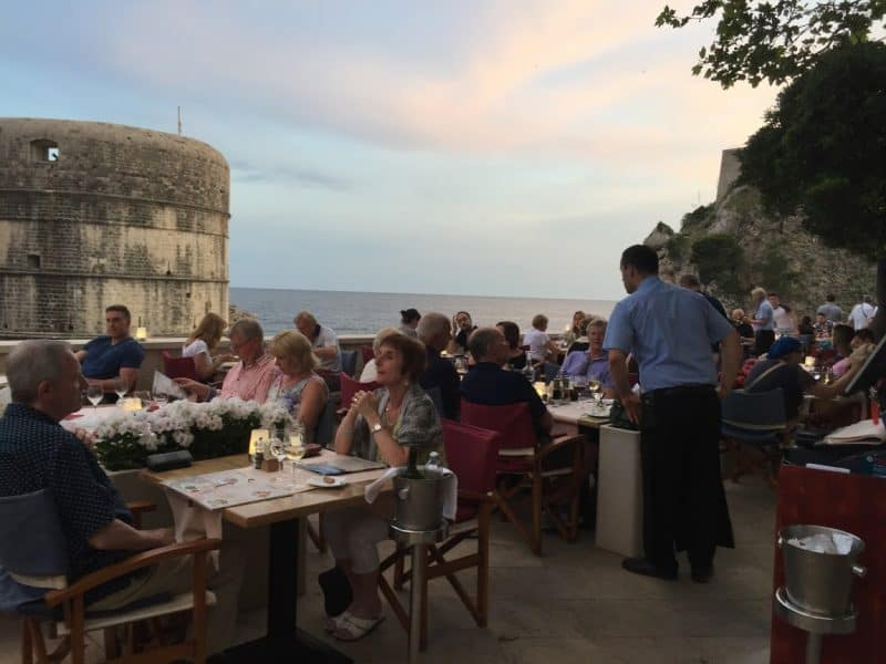 Dinner at Dubrovnik 1836 in Dubrovnik. Adventuresmith's cruise provides a lot of time to enjoy local restaurants instead of dining aboard the ship.