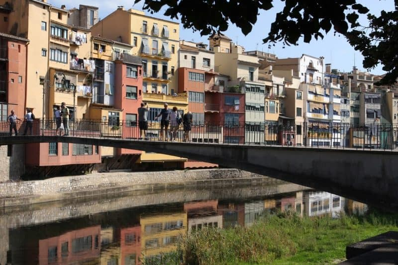 Pick a bridge along the River Onyar to sit and muse on Gerona's palette of color and light.