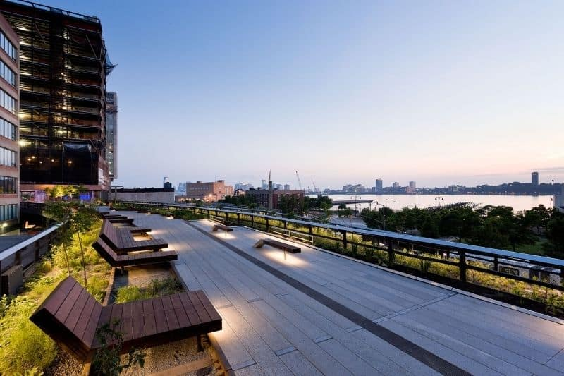 New York City's only elevated park, with tremendous views of the skyline.