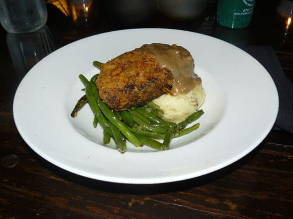 Fried meatloaf at the Mystic Grill in Covington
