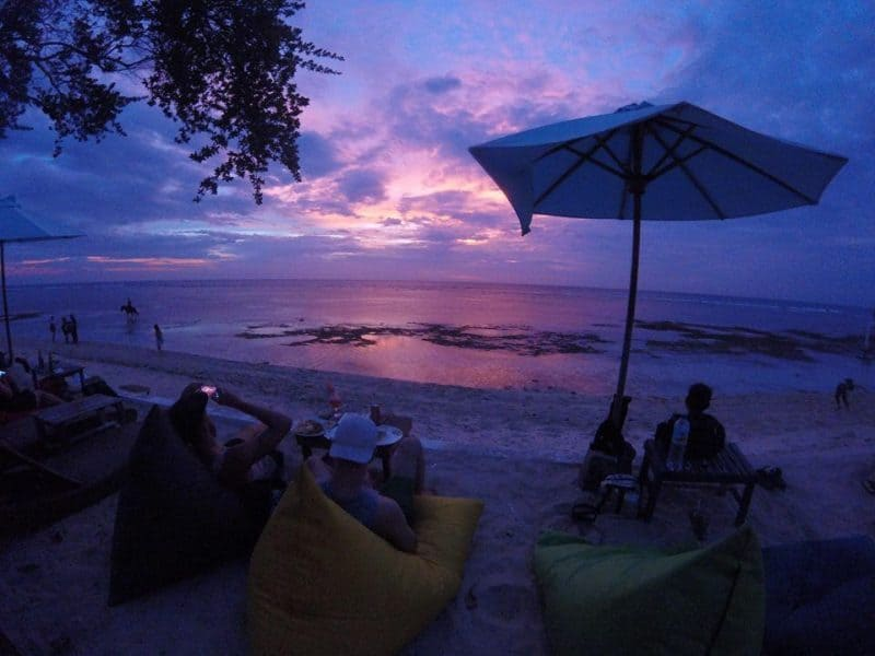 Nighttime on the beach, Gili T.