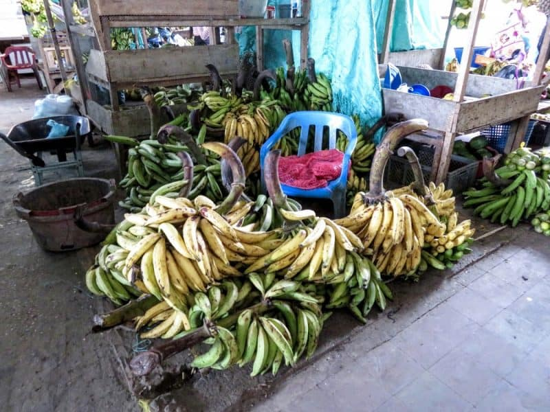 Plantains are one of the main staples found in the markets in Leticia.