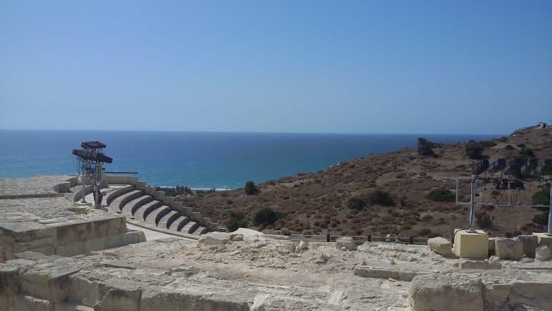 Kurion Beach, Cyprus, once a Roman theater.