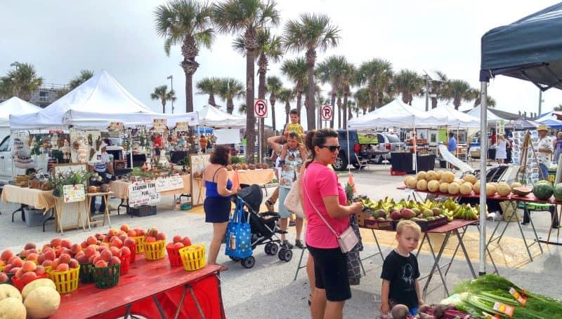 Farmer's market, St Augustine Beach FL along Route A1A.