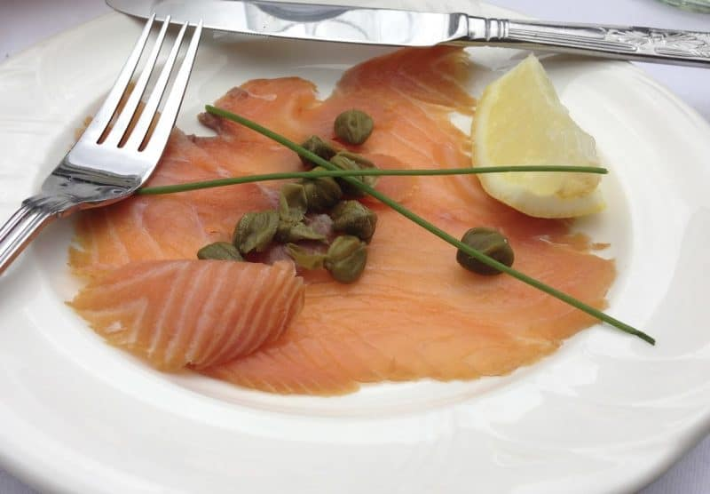 Salmon with capers from Caviston's Food Emporium.