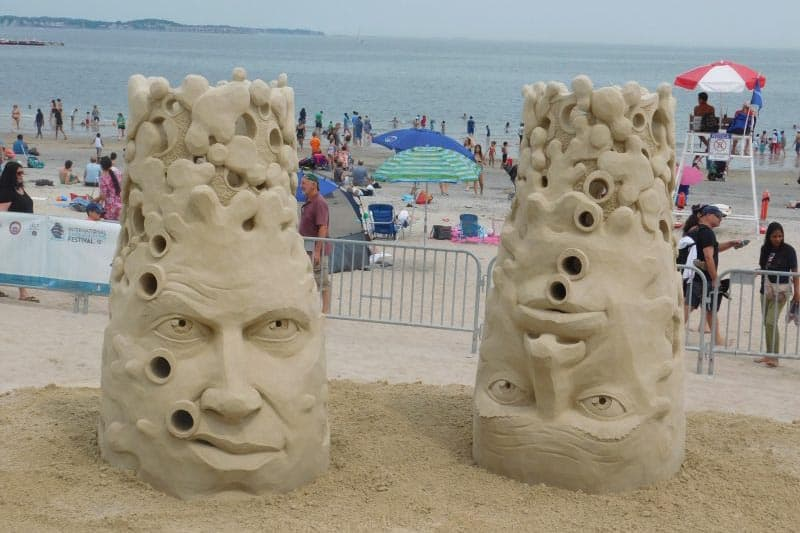 My favorite sculpture made by a sand sculpting artist at Revere Beach.