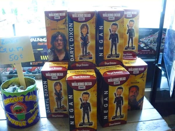 Souvenirs at The Walking Dead Store in Senoia.