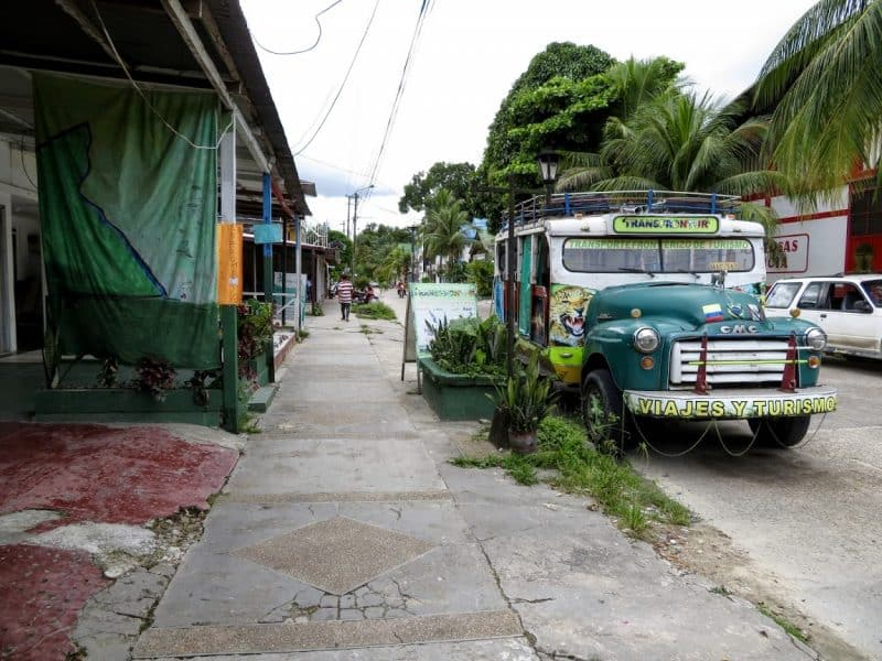 A street scene in Leticia during siesta. It's located at the furthest southern tip of Colombia.