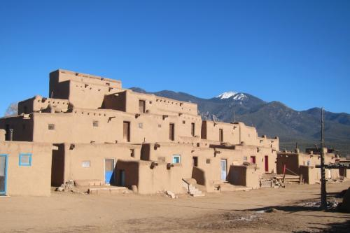The Taos Pueblo is a popular attraction in Taos, New Mexico.