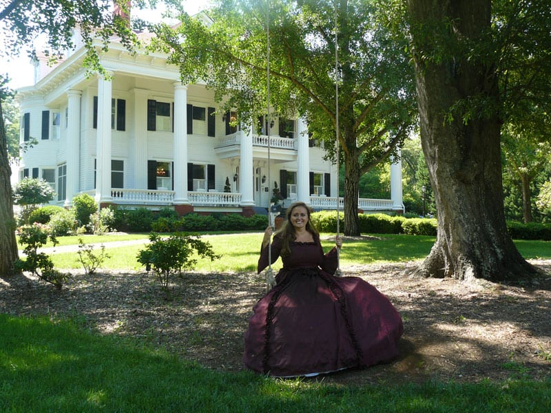 Twelve Oaks was the model for the Wilkes mansion in Gone With the Wind. Owner Nicole Greer rescued the building and made it into a b&b.