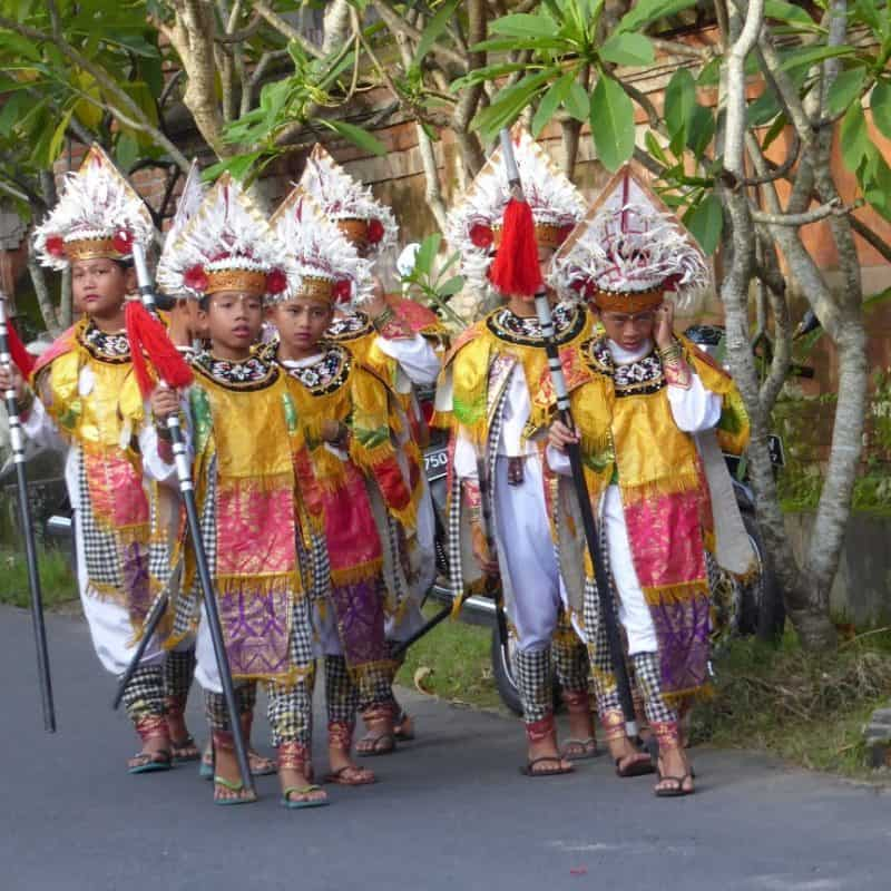 Young warriors. Odalan. Ubud, Bali. Judi Jagger photos.